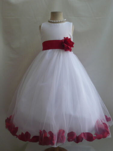 RED TODDLER INFANT PAGEANT RECITAL BRIDAL PARTY ROSE PETAL FLOWER GIRL DRESS in Clothing, Shoes & Accessories, Kids' Clothing, Shoes & Accs, Girls' Clothing (Sizes 4 & Up) | eBay