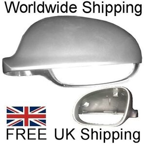 REFLEX-SILVER-Wing-Mirror-Cover-Left-VW-Golf-MK5-Passat-B6-Jetta-Passenger-Side