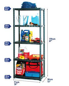 regal teleskopregal schrank kunststoffregal lagerregal 170x71x38cm steckregal ebay. Black Bedroom Furniture Sets. Home Design Ideas
