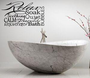 spa bathroom rules lettering bath words vinyl decor decal wall art