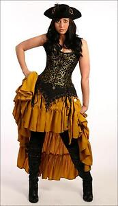 RENAISSANCE-PIRATE-WENCH-MOULIN-ROUGE-STEAM-PUNK-BROCADE-COSTUME-CORSET-Ac5-3x