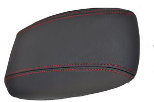 RENAULT-MEGANE-03-07-LEATHER-ARM-REST-COVER-RED-ST