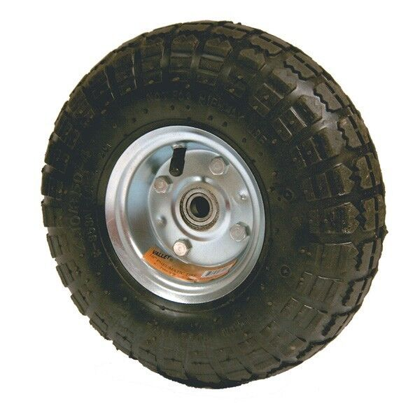 """Replacement 10"""" inch Rubber Air Filled Wheel Tire for Hand Truck Dolly or Cart"""