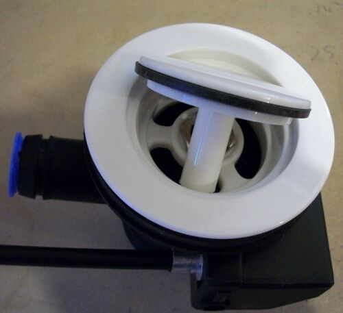 REPLACEMENT 40mm Kitchen Sink / Basin Pop Up Waste Plug in WHITE ...