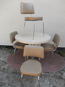details about retro 50s 60s 70s vintage kitchen table 4 chairs