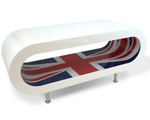 Retro Designer Union Jack Coffee Table New Modern Furniture Ebay