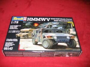 REVELL-03147-1-72-HMMWV-M966-TOW-MISSILE-CARRIER-M997-MAXI-AMBULANCE-NEU