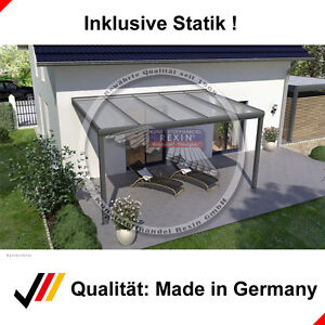 rexopremium aluminium terrassen berdachung anlehn carport. Black Bedroom Furniture Sets. Home Design Ideas