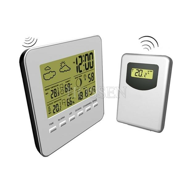 RF Wireless Thermometers Home Garden Indoor Outdoor Weather Station Forecast