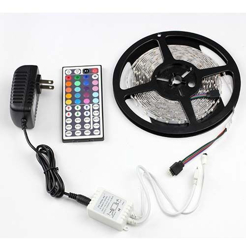 rgb 5m 3528 led strip light 300leds 44key remote. Black Bedroom Furniture Sets. Home Design Ideas