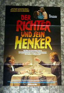 RICHTER-UND-SEIN-HENKER-A1-FILMPOSTER-German-1-Sheet-78-BISSET-SHAW-VOIGHT