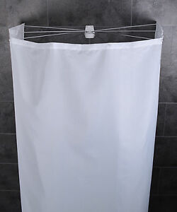 ridder duschvorhang duschkabine duschspinne duschschirm ombrella textil wei ebay. Black Bedroom Furniture Sets. Home Design Ideas