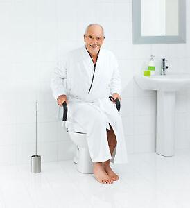 ridder wc sitzerh hung mit armlehne aufstehhilfe wei lga gepr fte sicherheit ebay. Black Bedroom Furniture Sets. Home Design Ideas
