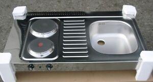 RIEBER-Pantry-Auflagespuele-Spuele-mit-Kochplatten-Minikueche-Edelstahl-100x60-cm