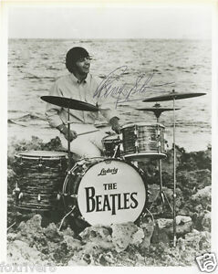 RINGO-STARR-Signed-Photograph-Pop-Star-Singer-Drummer-THE-BEATLES