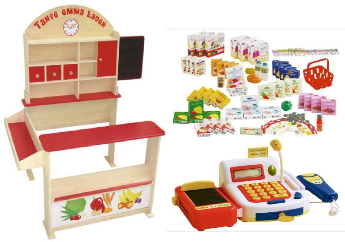 kaufladen aus holz mit zubeh r kaufmannsladen kinderkaufladen marktstand kiosk ebay. Black Bedroom Furniture Sets. Home Design Ideas