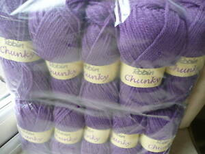 ROBIN-CHUNKY-KNITTING-WOOL-VIOLET-PURPLE-YARN-KNIT-500G-THOMAS-RAMSDEN-SHADE-094