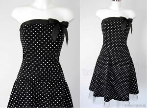 ROCKABILLY-KLEID-FIFTIES-PETTICOAT-POLKA-DOTS-Gr-36-38-40-42-NEU