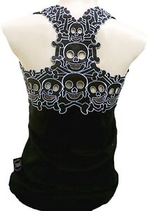 ROCKABILLY-PUNK-ROCK-BABY-Emo-Tiki-Skull-Tattoo-TANK-TOP-SHIRT-XS-S-M-L-XL-XXL
