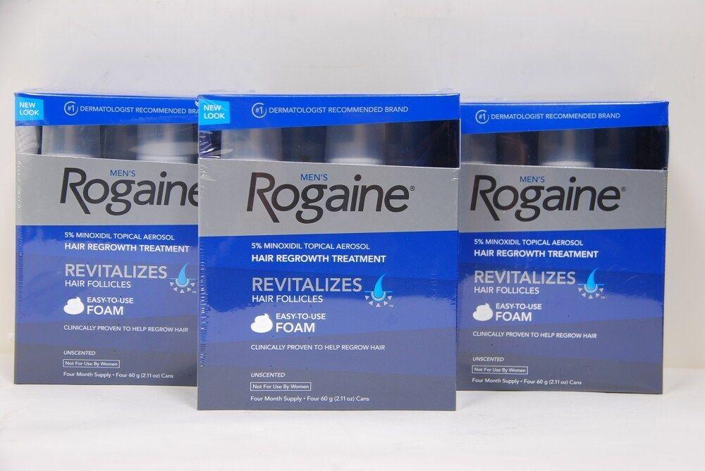 12-Month Rogaine Hair Regrowth For Men 5% Foam hair loss treatment NEW 312547781305 | eBay