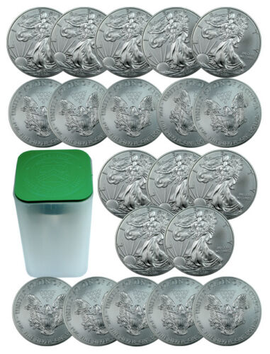 ROLL OF 20 - 2013 1 Oz Silver American Eagle $1 Coins SKU27335 in Coins & Paper Money, Bullion, Silver | eBay
