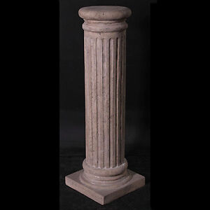 ROMAN-COLUMN-DISPLAY-PLINTH-PEDESTAL-3FT-LAMP-PLANT-STAND-STONE-EFFECT ...