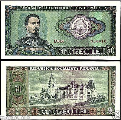 ROMANIA 50 LEI 1966 P#96 BANKNOTE UNC