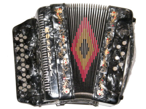 ROSSETTI ACCORDION 34 BUTTON 3 SWITCH 12 BASS FBE GRAY ACORDEON GRIS FA in Musical Instruments & Gear, Accordion & Concertina | eBay