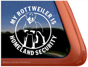 Homeland Security Watch List on Rottweiler Homeland Security Auto Window Decal Sticker   Ebay