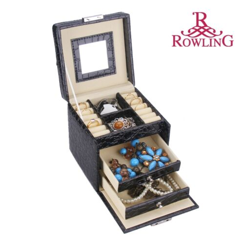 ROWLING Faux Leather Jewelry Box Case Jewellery Watch Display/Organizer Box 095 in Jewelry & Watches, Jewelry Boxes & Organizers, Jewelry Boxes | eBay