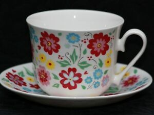 Roy Kirkham English Bouquet Fine Bone China Jumbo Teacup ...