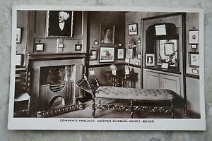 RP-Real-Photographic-Postcard-Cowpers-Parlour-Cowper-Museum-Olney-Bucks