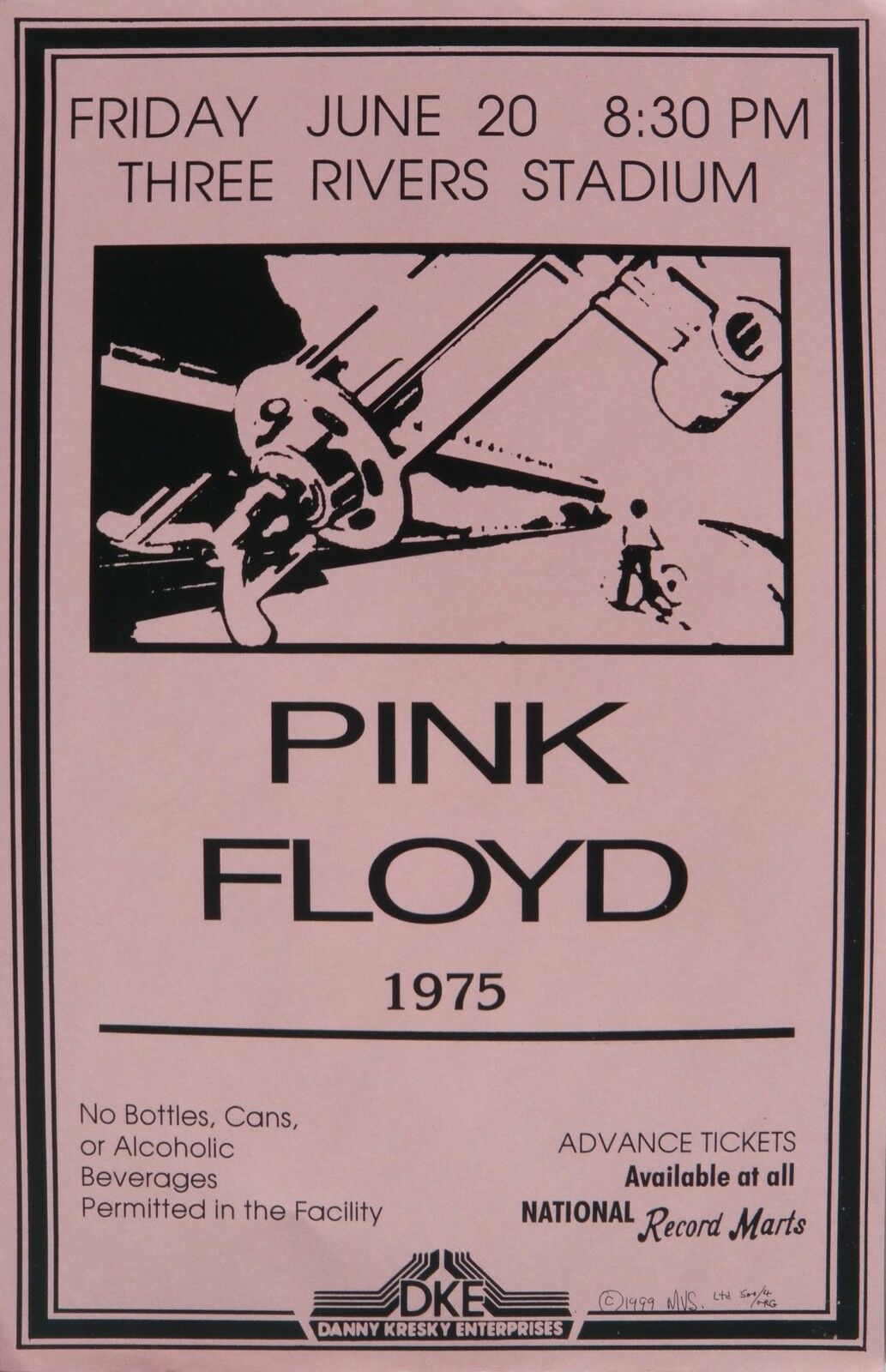 PINK FLOYD 1975 PITTSBURGH COMMERCIAL CONCERT TOUR POSTER ...