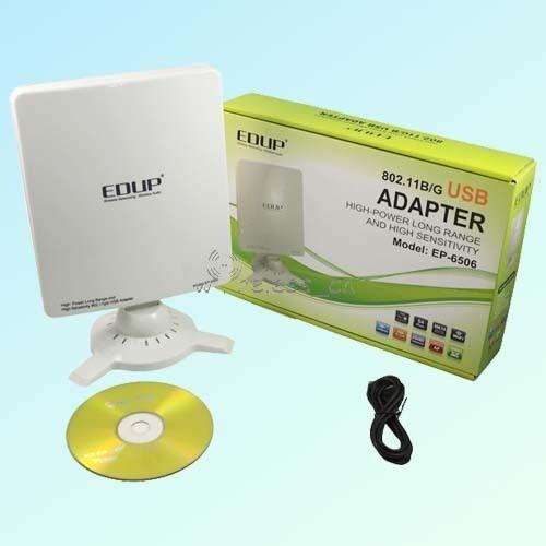 Chipset High Power LAN WiFi Adapter Card Wireless USB Antenna 1800mW