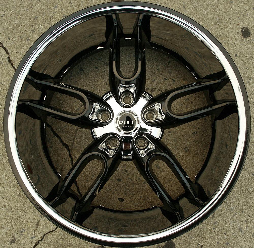 "Ruff Racing 942 20"" Black Rims Wheels Nissan Murano 03 Up 20 x 10 5H 45"
