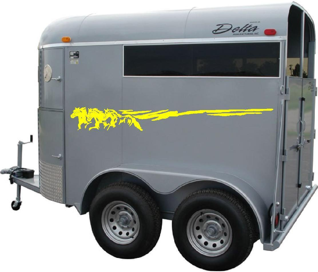 Running Horse Truck Trailer Vinyl Decal Decals 7 X70
