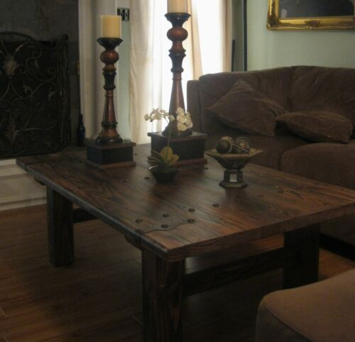 RUSTIC, VERY HEAVY, DOOR STYLE, ALL SOLID WOOD Coffee Table - in Home & Garden, Furniture, Tables | eBay