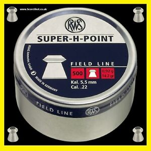 RWS-Super-H-Point-22-Airgun-Pellets-x500-Hunting-Pest
