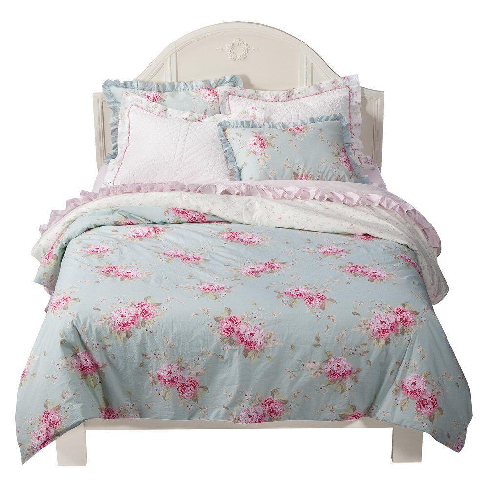 Rachel Ashwell Simply Shabby Chic Belle Hydrangea Pink Rose Duvet Set