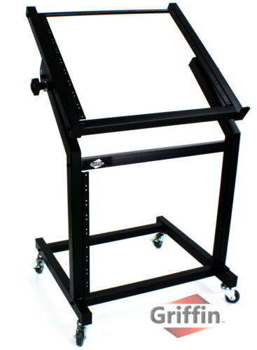Rack mount Studio Equipment Mixer Stand Cart Stage Rolling Gear Effect Amp Music in Musical Instruments & Gear, Pro Audio Equipment, Rack Cases, Hard Cases & Bags | eBay