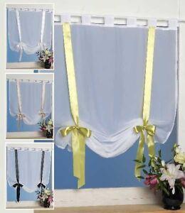 raffgardine mit schlaufen 80 x 160 raff gardine schleife in verschiedenen farben ebay. Black Bedroom Furniture Sets. Home Design Ideas
