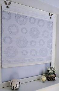 raffrollo plisse circular wei ohne bohren 45 60 80 100 x 140 cm ebay. Black Bedroom Furniture Sets. Home Design Ideas