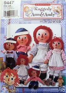 Simplicity Pattern 9447-Raggedy Ann & &y Doll-3 Sz