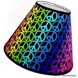 Rainbow Peace Sign Lamp Shade Ebay