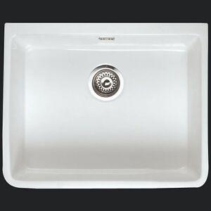 Rak Gourmet 2 White Ceramic Belfast Kitchen Sink 595 X 475 X 220 EBay