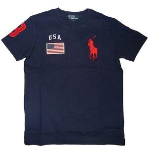 ralph lauren kinder t shirt polo reiter flagge big pony. Black Bedroom Furniture Sets. Home Design Ideas