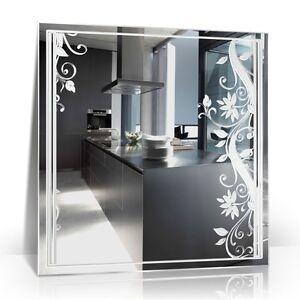 Ranken blumen wohnraum zimmer bad spiegel pflanzen deko ebay for Zimmer deko ebay