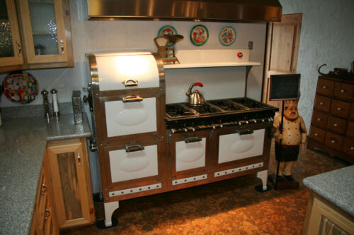 Rare Antique 1937 Magic Chef 8 Burner 4 Oven Stove 2 Broiler Plus Sauce Burner in Antiques, Home & Hearth, Stoves | eBay