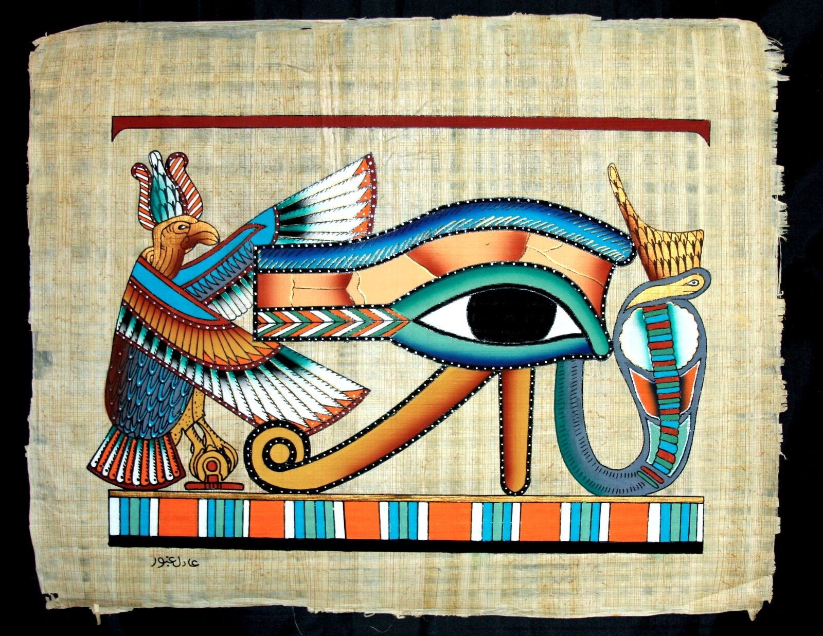 egyptian hand with eye