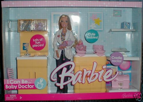 Rare Doctor Barbie with Happy Family size Babies